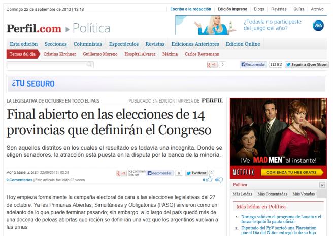 Final abierto en las elecciones de 14 provincias que definirán el Congreso - Perfil.com