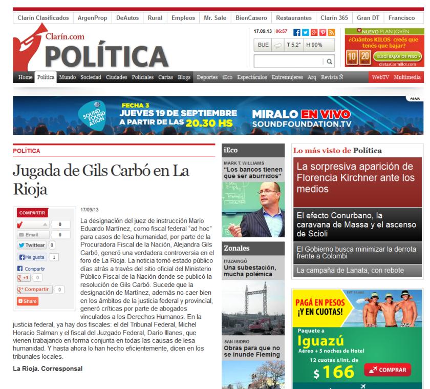 Jugada de Gils Carbó en La Rioja