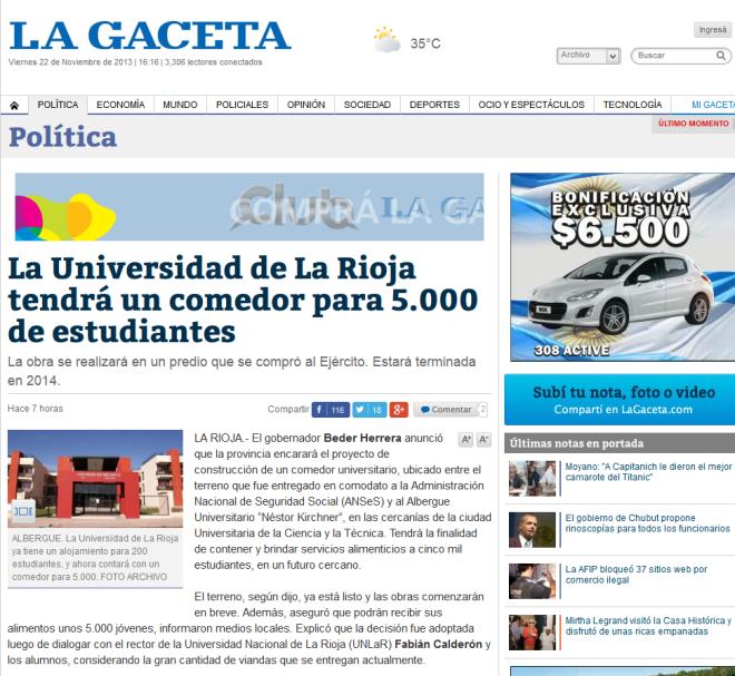 La Universidad de La Rioja tendrá un comedor para 5.000 de estudiantes - La Gaceta