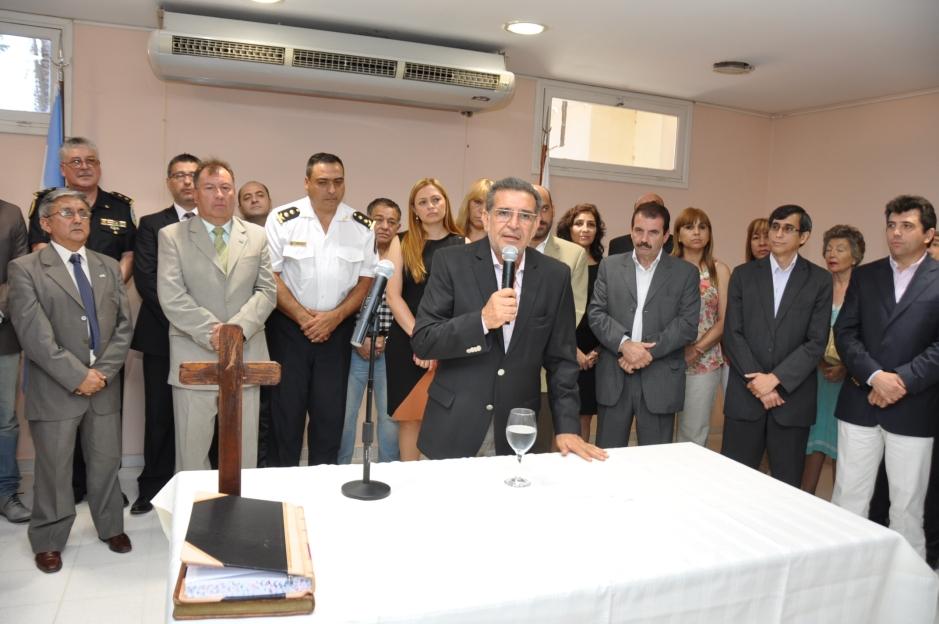 Discurso Gobernador. Jura del secretario de Seguridad y del jefe de Policía