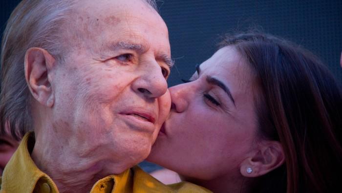 La Rioja. Acto de apoyo a Carlos Menem.